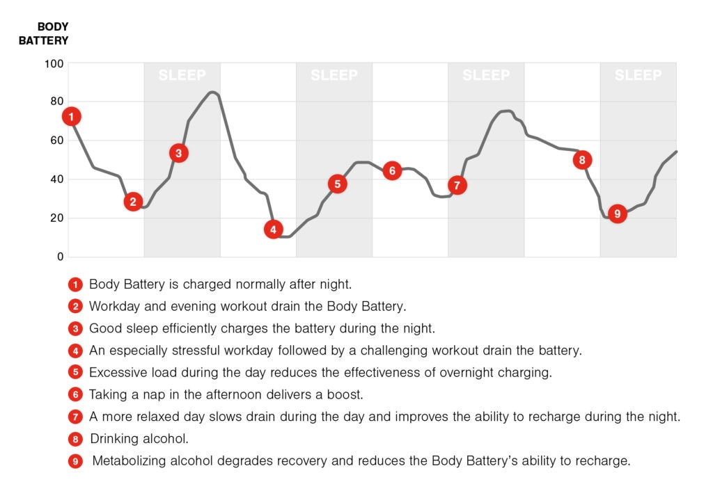 Body Battery Graph overview